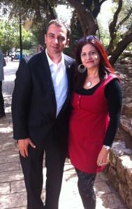 רות ברונשטיין עם יוסי בן דוד ראש עיריית טבריה