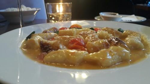 פולנטה עם תרד וחמאת עגבניות 106מסעדות בלייף סטייל