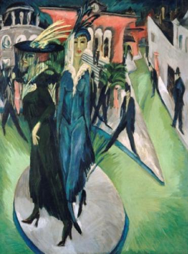 ארנסט לודוויג קירכנר, כיכר פוטסדם (1914)מוזיאון ישראל 106il אומנות