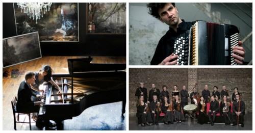 106il מוסיקה ופסטיבלים, וינסנט פיירני (מימין מעלה) , קונצ'רטו קלן (צד ימין מטה) משמאל הפסנתרן רו אנדרסון