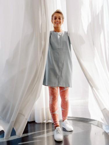 """KYT leggings מכנסי טייץ ססגוני. צילום:יח""""צ"""